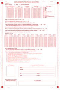 OMR Registration Form for Qwizpad OMR software